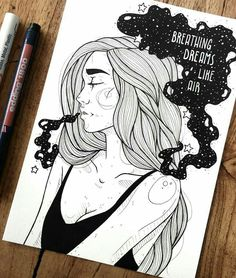 Pin by annia poma on ideas for drawings in 2019 dibujos tumb Illustrator, Dibujos Cute, Art Graphique, Pretty Art, Art Sketchbook, Oeuvre D'art, Easy Drawings, Pencil Drawings, Love Art