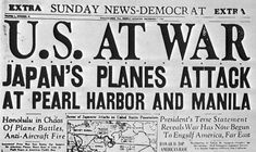 A headline from April 6th, 1917, which was the day the United States joined the war on the side of the Allies.