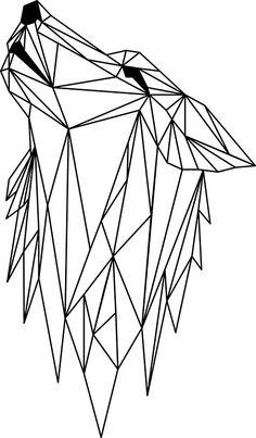 Kinderzimmer-Poster 'Origami-Fuchs' schwarz/weiß 30x40cm ...