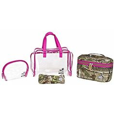 Plano Realtree Girl Caboodle Travel Set (4-Piece), Realtree Pink Heather Cox, Shooting Equipment, Travel Set, Future Baby, Girls Shoes, Camo, My Style, Pink, Google Search