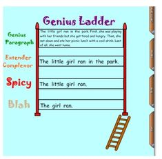 I created a gallery page of the Genius Ladder in both ELA and Math it is your for FREE, please rate if you download it!  Thanks