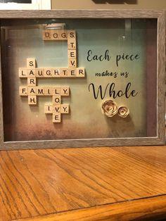 Scrabble Letter Crafts, Scrabble Tile Crafts, Scrabble Tile Wall Art, Scrabble Letters, Scrabble Pieces Crafts, Wood Letters, Frame Crafts, Crafts To Do, Legos