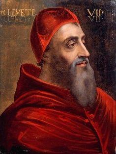 Clemens VII, geboren als Giulio de' Medici (1478 – 1534) was paus van november 1523 tot aan zijn dood. Hij was de opvolger van Adrianus VI.