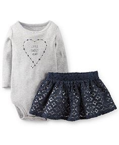 Carter's Baby Girls' 2-Piece Bodysuit & Lace Skirt Set - Kids - Macy's