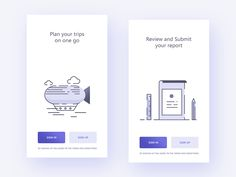 Dribbble - Intro screens for Concur app by Prakhar Neel Sharma