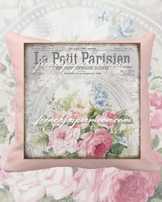 Digital French Shabby Chic Rose wallpaper with French