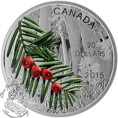Coin Gallery London Store - Canada: 2015 $20 Forests of Canada: Columbian Yew Tree Silver Coin, $99.95 (http://www.coingallerylondon.com/canada-2015-20-forests-of-canada-columbian-yew-tree-silver-coin/)