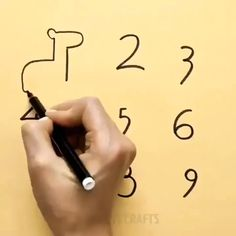 Turn numbers into cute drawings! Turn numbers into cute drawings! Easy drawing tips with numbers! Diy Arts And Crafts, Fun Crafts, Crafts For Kids, Paper Crafts, Sheep Crafts, Creative Crafts, Drawing Techniques, Drawing Tips, Drawing Drawing