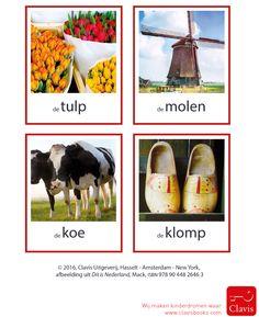 Woordkaarten bij het boek Dit is Nederland. Lesbrief kun je hier downloaden: http://clavisbooks.com/wosmedia/1311/lesbrief_dit_is_nederland.pdf