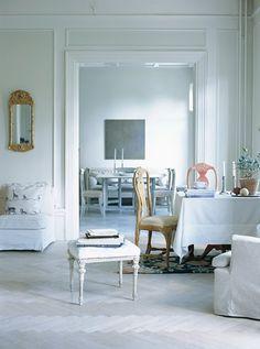 Swedish white color palette