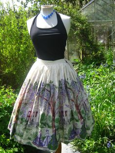 RESERVED vintage 50's  novelty print skirt  by VintageHoards