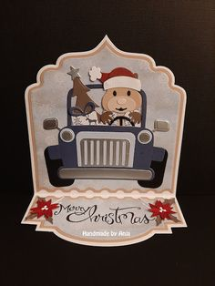 Christmas Cards, Merry Christmas, Xmas, Safari Jeep, Marianne Design Cards, Arts And Crafts, Paper Crafts, Elizabeth Craft Designs, Animal Cards