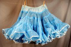 Vintage Blue Malco Modes Crinoline Petticoat Tutu by RogueRetro, $40.00