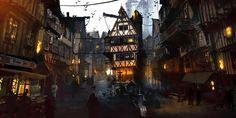 Medieval City, Julien Renoult on ArtStation at https://www.artstation.com/artwork/medieval-city-e0c0b3d8-c0ae-4520-a601-23ea9a45dfed