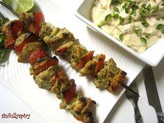 Shish Taouk Toum - Lebanese Chicken Skewers with Garlic Sauce