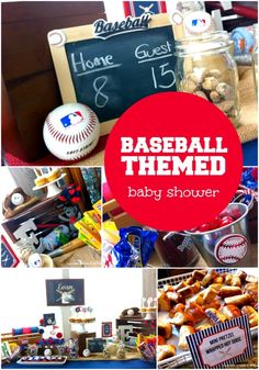 Baseball Themed Boy Baby Shower Ideas - Spaceships and Laser Beams