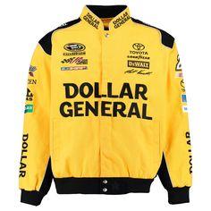 Matt Kenseth JH Design Dollar General Color Twill Jacket - Yellow/Black - $95.99