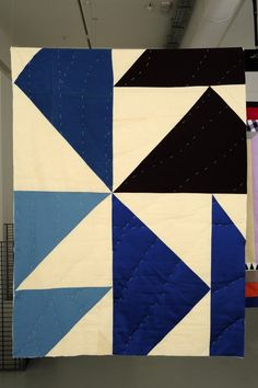 German artist Ulla von Brandenburg at Pilar Corrias Gallery, London. Inspired by African-American quilts she saw in Memphis, she magnified of their patterns in these works.