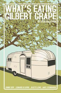 What's Eating Gilbert Grape (1993) - Minimal Movie Poster by Claudia Varosio #minimalmovieposter #alternativemovieposter #90smovies #claudiavarosio