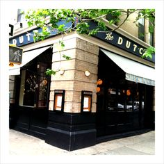 Andrew Carmellini's The Dutch is an American Restaurant, Bar and Oyster Room in Soho inspired by local cafes, seaside shacks, neighborhood bistros, etc. - a mix of cultural influences that make big cities great.