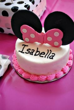 """Leslie's Life  shows off her cute daughter's birthday party!  Here's my sweet little """"Minnie"""" Mouse.  Happy 1st Birthday baby girl! Bella M..."""