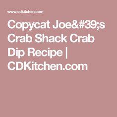 Copycat Joe's Crab Shack Crab Dip Recipe   CDKitchen.com