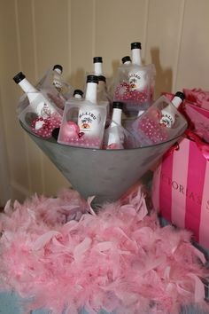 Malibu Heart Box Favors for Bachelorette Party (filled with light up ring and necklaces) ::Jennasis Creations::