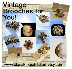 """""""Vintage Brooches for You!"""" by diana-32 ❤ liked on Polyvore featuring Monet and vintage"""