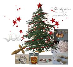 """""""Under the Christmas Tree"""" by artbymarionette ❤ liked on Polyvore featuring Kazuri, handmade, shopsmall, integrityTT, EtsySpecialT and adornme"""