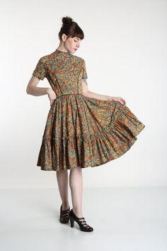 Folk Print Dress