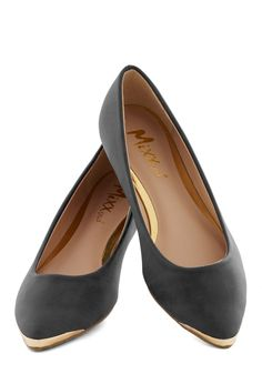 A Fine Point Flat in Black, #ModCloth