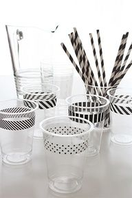 Do It Yourself Weddings - Washi Tape - never heard of it before, but it seems easy and a great way to dress up even a plastic cup!