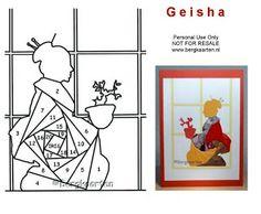 Irisvouwen: Geisha