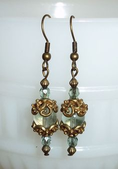 Guilded Age Inspired Earrings by PerPiece on Etsy, $8.00