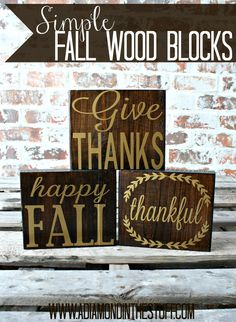 Simple Fall Wood Blocks @ A Diamond in the Stuff