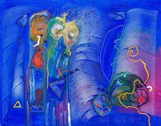 Soile Yli-Mäyry art Finland, Indigo, Painting, Image, Design, Watercolor Painting, Painters, Indigo Dye, Painting Art