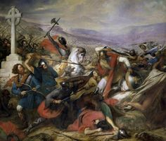 Battle of Tours (October 732), also called the Battle of Poitiers pitted Frankish and Burgundian forces against an army of the Umayyad Caliphate. The Franks were victorious. 'Abdul Rahman Al Ghafiqi was killed, and Charles, ruler of Francia, subsequently extended his authority in the south.