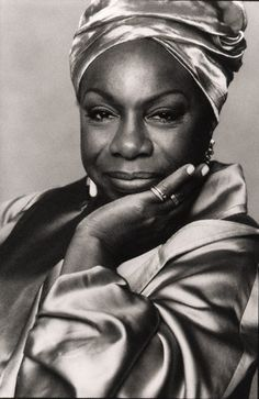 Nina Simone (1933-2003) was an American singer, songwriter, pianist, arranger, and civil rights activist widely associated with jazz music.