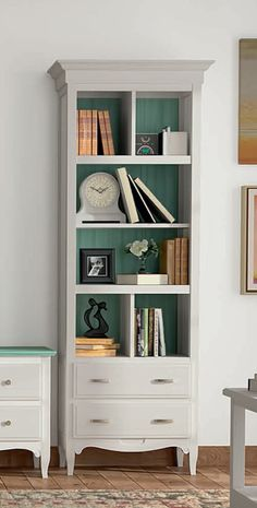 Pictures gallery for modern or classic bookcase & bookshelf ideas to fit any budget or library, from metal, wood freestanding & floating modular, DIY & homemade, to fit small spaces or large living room / firepit area. Living Room Storage, Living Room Chairs, Living Room Decor, Furniture Makeover, Home Furniture, Furniture Design, Bookshelves, Bookcase, Bookshelf Ideas