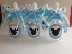 Mickey Mouse baby bottles by Marshmallowfavors on Etsy