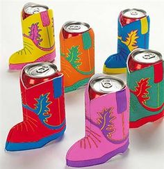 Can Coozies for a Cowgirl or Western Theme Bachelorette Party! Just 99¢ each at The House of Bachelorette!