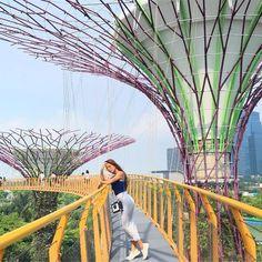 Nadine - #nadine Singapore Travel Outfit, Singapore Vacation, Singapore Photos, Travel Outfit Summer, Summer Travel, Holiday Travel, Singapore Destinations, Travel Pose, Travel Photos