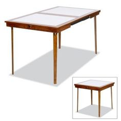 Perfect Linen N Things     Expandable Tables    Card Table Turned Dining Table In