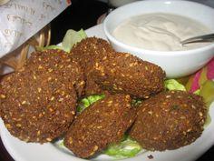 Falafel. Al Hallab Restaurant, Dubai, UAE