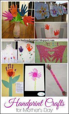 Fun Handprint and Footprint Art : Handprint Crafts for Mother's Day {Part 2}