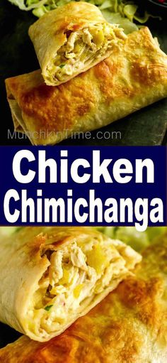 Delicious Chicken Chimichanga Recipe - it is a baked burrito, stuffed with chicken, cheese and mild chilies. Delicious Chicken Chimichanga Recipe - it is a baked burrito, stuffed with chicken, cheese and mild chilies. Authentic Mexican Recipes, Mexican Food Recipes, Authentic Chicken Chimichanga Recipe, Mexican Desserts, Quesadillas, Empanadas, Enchiladas, Chicken Burritos, Cheese