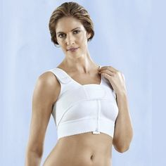 Front opening bra with compression band - ideal for use after a breast augmentation or breast reduction surgery