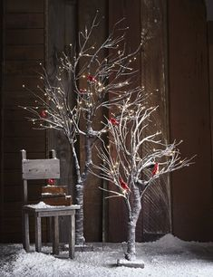 Roost Snowy Willow Trees - 2 Sizes - Sold out for the season at Roost Rustic Christmas, Christmas Home, White Christmas, Christmas Lights, Christmas Crafts, Christmas Ornaments, Christmas Branches, Merry Christmas, Willow Tree Wedding