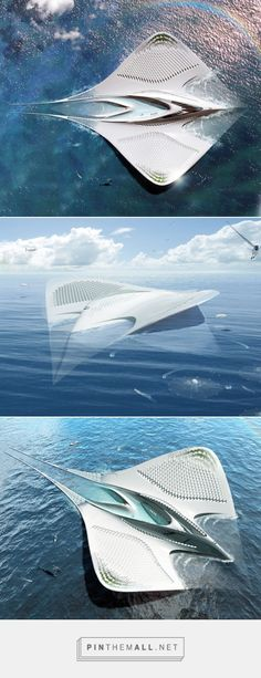 Jacques Rougerie's fascinating floating city shaped like a manta ray would be 100% self-sustaining | Inhabitat - Sustainable Design Innovation, Eco Ar... - a grouped images picture - Pin Them All