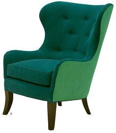 Lee Chair in Ferris Emerald and Ferris Jade - Lonny
